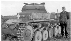 A Panzer II of the 2nd Battalion after the fighting of 2 September