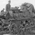 In the fighting that destroyed this Panzer I, Panzerschiitze Bader of the 2nd Battalion was killed