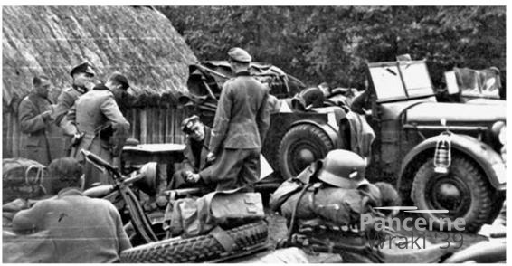 Mobile command post. The commander of the 2nd Battalion, Major von Wilcke, is sitting at the table.jpg
